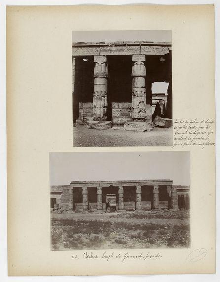 1_2. Thèbes. Temple de Gournah, façade