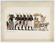Thèbes. (XVIIIe dynastie). Populations nègres