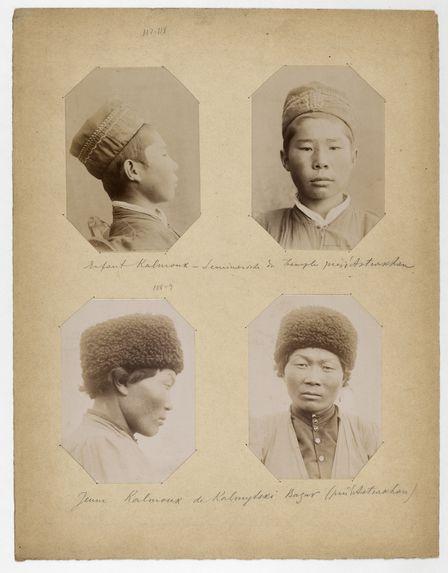 Enfant Kalmouk-Leninorsk [?] du Temple près d'Astrakhan. Jeune Kalmouk de Kalmytski [?] Bazar