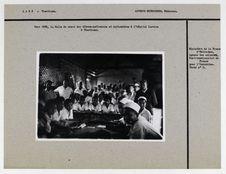 La salle de cours des élèves-infirmiers et infirmières à l'hôpital laotien à...