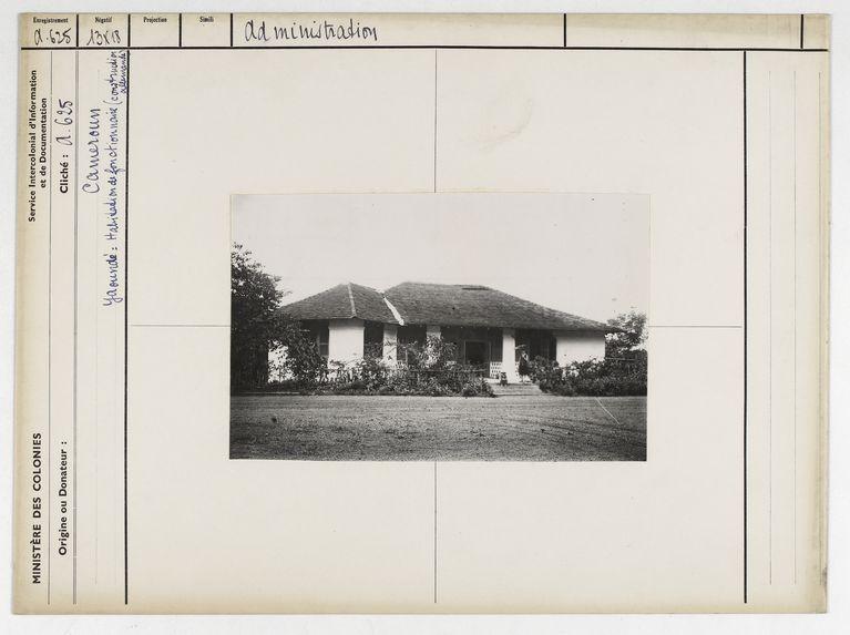 Yaoundé : habitation de fonctionnaire (construction allemande)