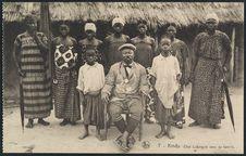 Kindu, chef Lunfungula avec sa famille