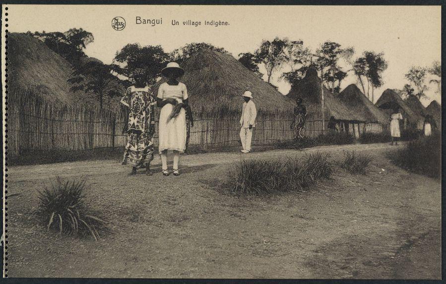 Bangui, un village indigène