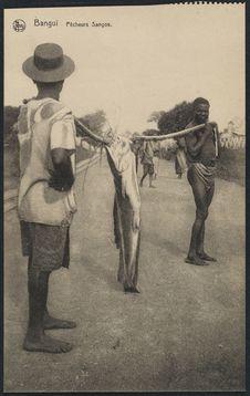 Bangui, pêcheurs Sangos