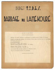 Budget F.I.D.E.S. Barrage du Lamékouré
