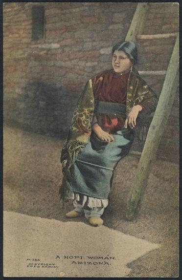 A Hopi woman, Arizona
