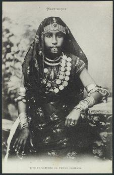 Type et costume de femme indienne
