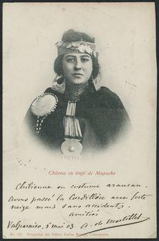 Chilena en traje de Mapuche