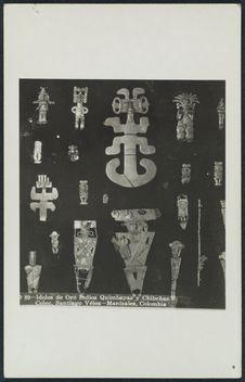 Idolos de Oro de los Indíos Quimbayas y Chibchas