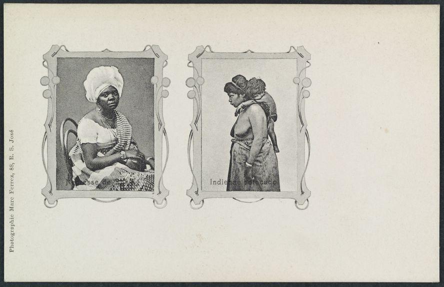 Négresse de Bahia et indienne botocudo