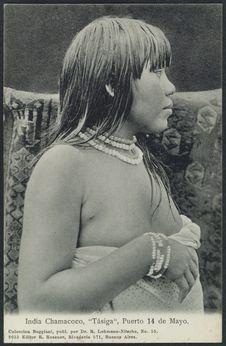 """India Chamacoco, """"Tásigua"""", Puerto 14 de Mayo"""