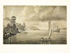 Sans titre [Vue sur la baie de Hobart]