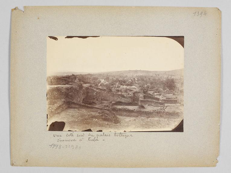 Vue côté sud du palais Toltèque découvert à Tula