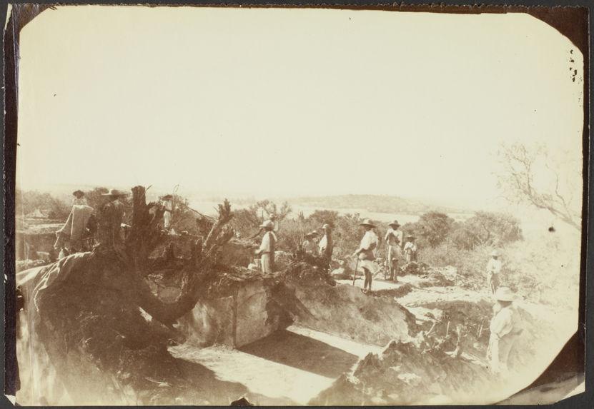Tula. Vue des travaux de fouilles de la 1ère maison toltèque