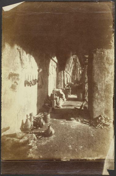 Palenque. Intérieur d'une galerie du palais
