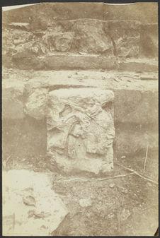 Palenque. Bas-relief de l'édifice central du palais