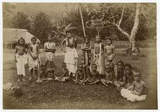 Girl and children of Fangaloa