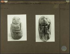 1. Statuette en pierre Chibcha. Représentation féminine. M.H. 78.1.174 (coll....