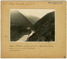 Vallée du Mékong, vue prise vers l'aval