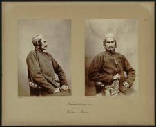 Satyendra Nath Tagore, 21 ans. [De profil]