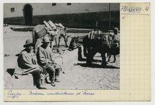 Indiens conducteurs d'ânes