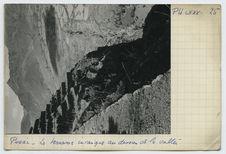 Les terrasses incaïques au dessus de la vallée