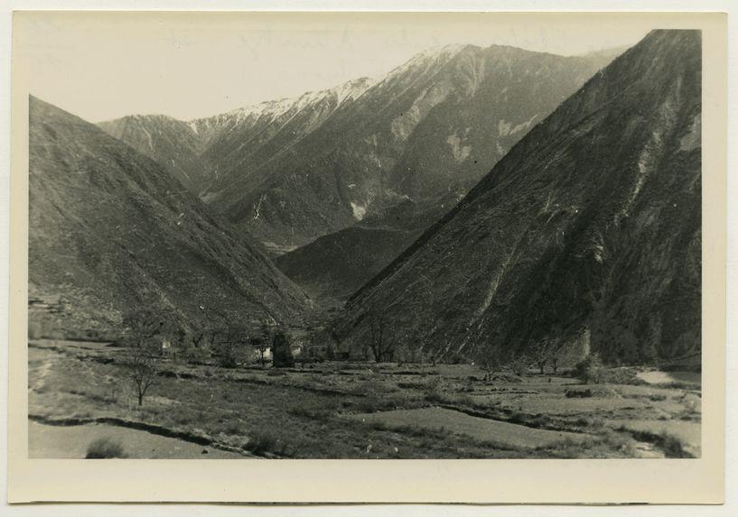 Village tibétain entre Atuntze et Kiafé (vallée du Mékong)