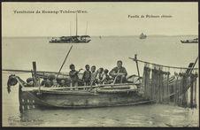Famille de pêcheurs chinois
