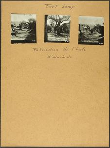 Fort-Lamy. Fabrication de l'huile d'arachide