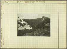 Martinique. Aspect du cratère de la montagne Pelée en 1902