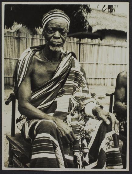 Le père du chef des baoulés, Sakasso, Bouaké, Côté d'Ivoire