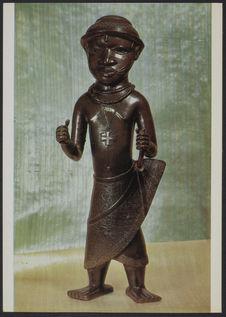 """Figure en bronze """"Porteur du croix&quot"""