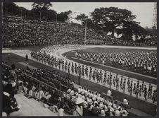 Formations scolaires au stade Houphouët-Boigny d'Abidjan