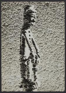 Sans titre [Peinture d'un personnage sur un mur crépi]
