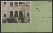 Institut Français d'Afrique Noire [détail de la façade]