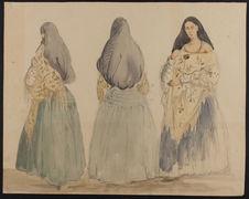 Trois dames à l'espagnole