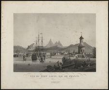 Vue du Port Louis, Ile de France
