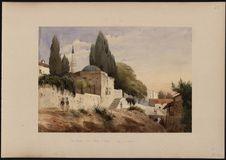 """""""Une mosquée dans le village d'Ourlac, golfe de Smyrne&quot"""