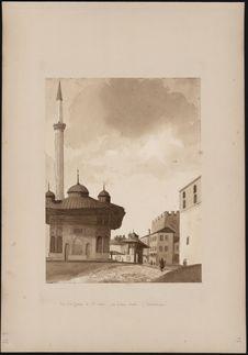 """""""Vue de la fontaine de Ste Sophie, près [du] vieux Sérail (Constantinople)..."""