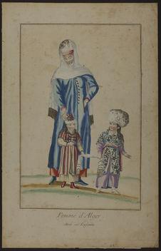 Femme d'Alger avec ses enfants