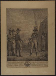 Le G[énér]al Toussaint-L'Ouverture remettant au G[énér]al anglais [...] deux...