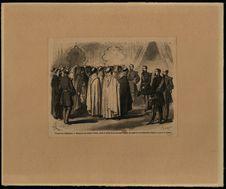 Voyage de l'Empereur. Réception des chefs de tribus, caïds et cheiks de la...