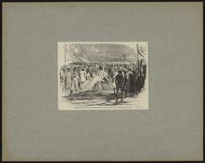 Inauguration des travaux de percement de l'isthme de Suez, le 25 avril 1859. Le...