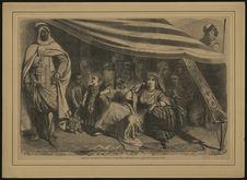 Intérieur de la tente visitée par S. M. l'Impératrice au camp de la...