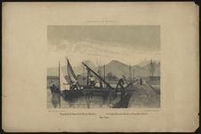 Vue prise de la Chaussée de l'Ile aux Tonneliers. Port-Louis