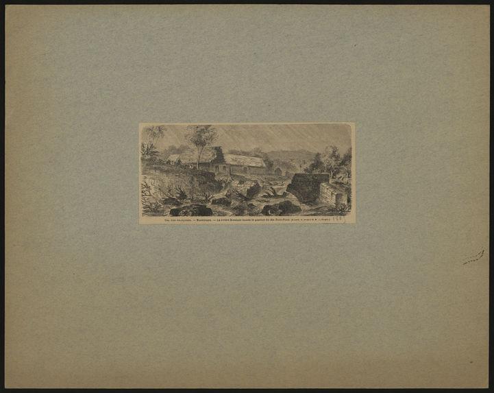 Colonies françaises. Martinique. La rivière Roxelane inonde le quartier dit des Trois-Ponts