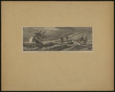 Le cyclone de Saint-Denis de la Réunion - Appareillage des navires