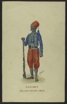 Dahomey - Milicien grande tenue