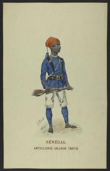Sénégal - Artillerie grande tenue
