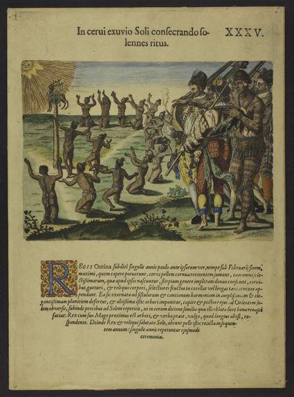 Cérémonie rituelle des sauvages d'Amériques